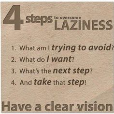 What is Laziness? This defines it well!