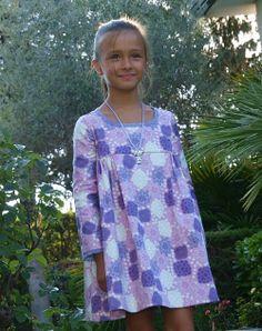 Vestido Frunces, estampado Rosas Pasteles - La Princesa de Condor en Erizzos Marketplace de tiendas para niños de 0 a 14 años