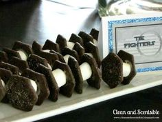 Or use mini marshmallows, Oreo wafer cookies, and a little icing to make edible TIE fighters.