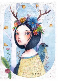 手账素材 收集 水彩画 插画 涂鸦 手账插画 儿童画