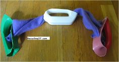 Sensory pull handles are a versatile therapy tool, http://www.RecyclingOT.com