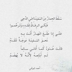 شعر أحمد شوقي سقط الحمار من السفينة في الدجى عالم الأدب Islamic Quotes Quotes Arabic Quotes