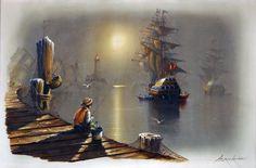 Digital image of original 36 X 24 oil painting.