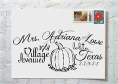 Thanksgiving Day-Calligraphy Envelope Addressing on Etsy. Send them your envelopes for your party or greeting cards and they'll create fabulously addressed envelopes!
