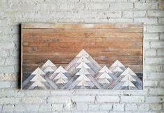Rigenerati legno parete arte decorazione di EleventyOneStudio
