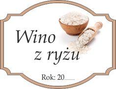 Naklejka na ryżowe wino