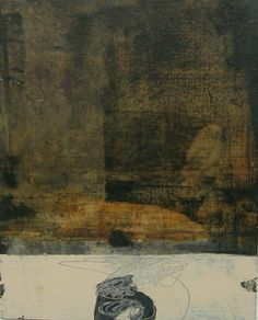 """Bronze, 10""""x8"""" mixed media on paper.  /by rebecca crowell"""
