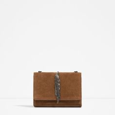 Image 1 of LEATHER MESSENGER BAG WITH METAL DETAIL from Zara