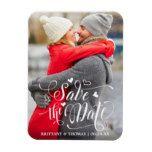 Modern Save the Date Hearts Engagement Magnet #weddinginspiration #wedding #weddinginvitions #weddingideas #bride