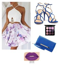 """For the night!"" by starnaomy on Polyvore featuring moda, Schutz, Charlotte Russe, MAC Cosmetics y Smashbox"