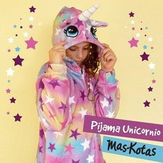 71edb57e9 Pijamas de unicornio y pantuflas para niñas invierno 2019 by Mas-kotas