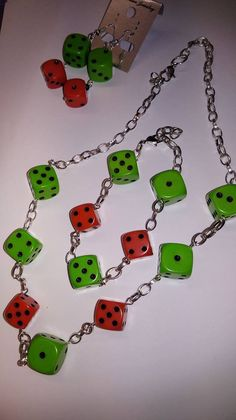 Excited to share the latest addition to my #etsy shop: Dice jewellery set Rockenroll Rockabilly Unique One of a kind 50's https://etsy.me/2I2zhh2