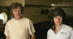 """Their faces are priceless :). """"You have landed in Iraq"""" Top Gear Funny, Top Gear Bbc, Clarkson Hammond May, James May, Jeremy Clarkson, Bbc America, History Memes, Fandoms Unite, Television Program"""