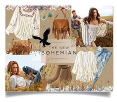 """""""AEOnBohemian"""" by jeneric2015 ❤ liked on Polyvore featuring moda, American Eagle Outfitters i aeostyle"""