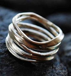 Unique and funky Silver Loop Ring handmade with sterling silver 925.The fun and trendy design is also available in plated gold and can make for a beautiful and uncoventional wedding ring. http://mavestore.com/shop/jewelry/funky-silver-loop-ring