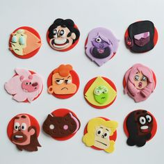 steven universe cupcakes/ fondant cupcake toppers