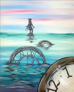 """DISNEY EVENT!   Sunday, Oct 16 @ 11am.  We are proud to be partnering with Disney to present Alice Through the Looking Glass """"Floating Through Time"""" painting to celebrate the release of the DVD/Blu-Ray movie on Oct. 18th."""