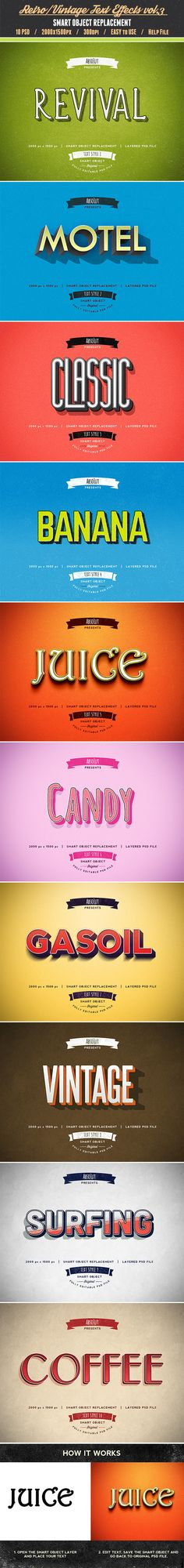Retro Vintage Text Effects vol.3 - Text Effects Actions