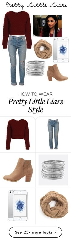 """emily fields"" by onnajanell on Polyvore featuring Yves Saint Laurent, Glamorous, Charlotte Russe and Avenue"