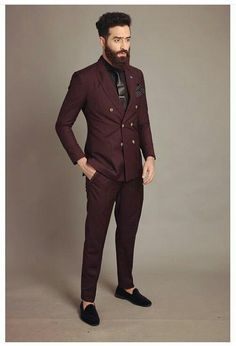 Latest Coat Pant Designs Burgundy Men Suit Double Breasted Slim Fit Skinny 2 Piece Tuxedo Custom Groom Suits Terno Masculino S1