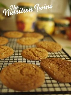 """Since we're all about letting the good times roll, a bit healthier—so we've got a """"healthified,"""" delicious version of ginger cookies! Healthy Baking, Healthy Desserts, Just Desserts, Delicious Desserts, Yummy Food, Healthy Recipes, Ginger Cookies, Molasses Cookies, Raisin Cookies"""