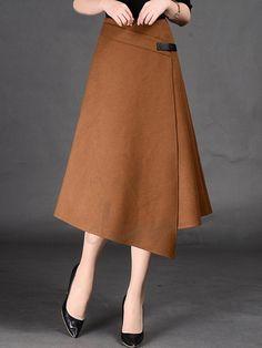 新作不規則裾のデザインのニットスカート ボトムス 12485318 - スカート - Doresuwe.Com