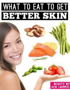 Salmon can give you better skin! Click and find out what other foods can too...