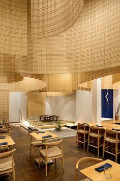 Kengo Kuma fills Portland restaurant with delicate bamboo screens - Curbedclockmenumore-arrow : Rather ethereal