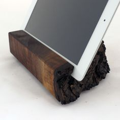 When you buy a wooden iPad stand from Grant Stands & Co, they donate of the purchase price to your choice of three charities. Ipad Holder, Tablet Holder, Ipad Kitchen Stand, Wooden Ipad Stand, Wood Crafts, Diy Crafts, Cell Phone Holder, Cool Gadgets, Decorating Your Home