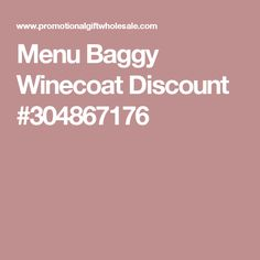 Menu Baggy Winecoat Discount #304867176