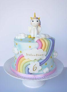 Salmon and mozzarella cake - Clean Eating Snacks Unicorn Themed Birthday, Baby Birthday Cakes, Rainbow Birthday Cakes, Unicorn Party, 4th Birthday, Rodjendanske Torte, Pony Cake, Novelty Cakes, Girl Cakes