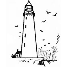 How to Draw Lighthouses with Easy Drawing Step by Step Instructions-kids do on the screen beside example