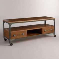 One of my favorite discoveries at WorldMarket.com: Wood and Metal Aiden Media Stand