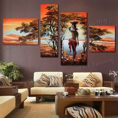 African Art Paintings, Art Paintings For Sale, Hand Painting Art, Oil Painting On Canvas, Wall Art Prints, Canvas Wall Art, Hamsa Art, Africa Art, Modern Wall Art
