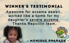 Repcillin cured Monique's excema naturally. #naturalcure #naturalremedy #painter #skincare