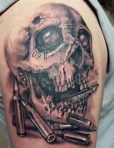 100 Military Tattoos For Men - Memorial War Solider Designs Tattoos And Body Art military tattoo designs Schulterpanzer Tattoo, Patriotische Tattoos, Skull Sleeve Tattoos, Tattoo Video, Army Tattoos, Skeleton Tattoos, Warrior Tattoos, Military Tattoos, Best Sleeve Tattoos
