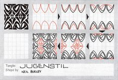 Jugenstil - tangle pattern