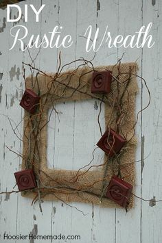 DIY Rustic Wreath :: Instructions on HoosierHomemade.com
