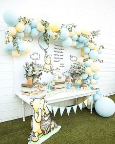 I would totally get involved in a Winnie the Pooh themed party. - I would totally get involved in a Winnie the Pooh themed party. My favorite character … in # - Winnie The Pooh Themes, Winnie The Pooh Nursery, Winnie The Pooh Birthday, Baby Birthday, Vintage Winnie The Pooh, Birthday Parties, Winnie The Pooh Cake, Vintage Birthday, Birthday Ideas
