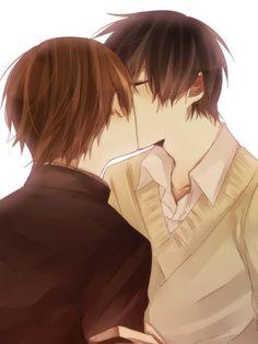 Tags: Anime, áo len, tay Top 'tay, Sekai Ichi Hatsukoi, Ritsu Onodera, Takano Masamune, Kiss On The Lips