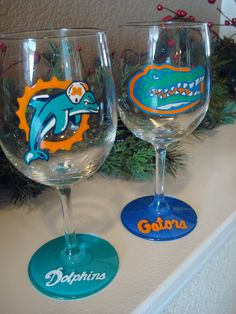 i dont drink..i promise..but these are my two favorite teams!! Miami Dolphins and Florida Gators