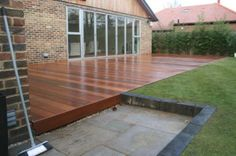 garden decking | Shows how deck is constructed to blend in with some existing garden ...
