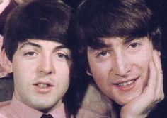 Paul and John #paulmccartney #johnlennon #thebeatles