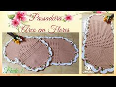 🌸 Passadeira Arco em Flores 🌸 1/2. Por Vanessa Marcondes. - YouTube Crochet Bikini, Crochet Hats, 1, Youtube, Kitchen Playsets, Oval Rugs, Crochet House, Crochet Carpet, Arch