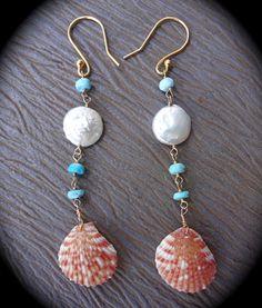 Shell Earrings <3 http://www.etsy.com/shop/codyryanjewelry