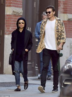 Cute couple:Zoe Kravitz and Karl Glusman were spotted out and about in Soho again...