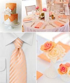 Originální Svatba by Lucie: Barevná paleta :: oranžová + stříbrná + šedá