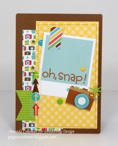 Doodlebug Design Inc Blog: Day to Day: Card Inspiration I am just loving the papers, elements and washi from this collection! Amanda Coleman shows it all off here on this card. It could be that cute sun background paper that got my attention (so pretty and fun!)