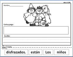 Spanish Scrambled Sentences. October Literacy Center in Spanish