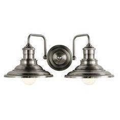 allen   roth 2-Light Hainsbrook Antique Pewter Bathroom Vanity Light